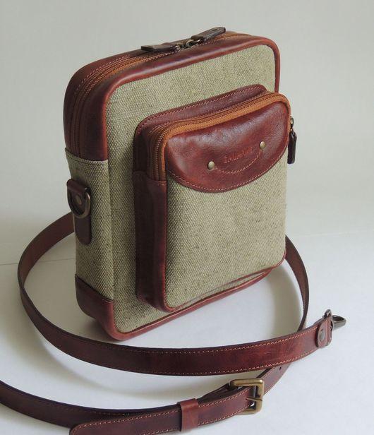Мужские сумки ручной работы. Ярмарка Мастеров - ручная работа. Купить Сумка мужская. Handmade. Комбинированный, брезент и кожа