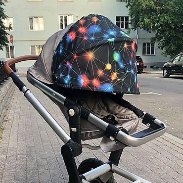 Товары для малышей ручной работы. Ярмарка Мастеров - ручная работа Козырек для коляски универсальный. Handmade.
