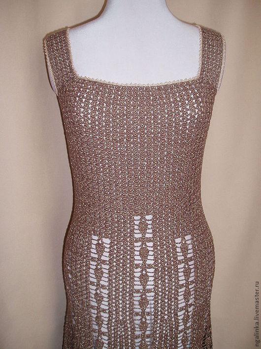 Платья ручной работы. Ярмарка Мастеров - ручная работа. Купить платье-сарафан из хлопка Шоколад. Handmade. Коричневый, сарафан крючком