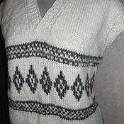 Одежда ручной работы. Ярмарка Мастеров - ручная работа Жилет из натуральной шерсти. Handmade.