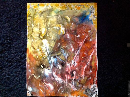 Абстракция ручной работы. Ярмарка Мастеров - ручная работа. Купить Страсть. Смешанная техника.. Handmade. Ярко-красный, картина недорого