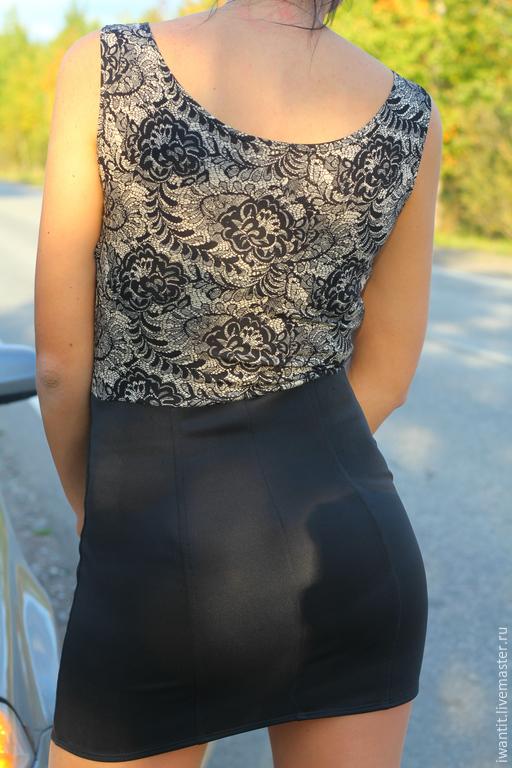 Платья ручной работы. Ярмарка Мастеров - ручная работа. Купить Короткое трикотажное платье. Handmade. Платье, трикотажное платье, вискоза