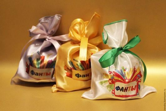 """Персональные подарки ручной работы. Ярмарка Мастеров - ручная работа. Купить сладкая игра """"Фанты"""". Handmade. Подарок на новый год"""