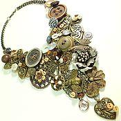 Украшения handmade. Livemaster - original item Button Valley. Necklace. Handmade.