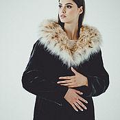 Одежда handmade. Livemaster - original item Long beaver fur coat with lynx hood. Handmade.