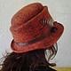 """Шляпы ручной работы. Заказать шляпка """" Прага"""". Инна Барденкова (innabardenkova). Ярмарка Мастеров. Шляпа с полями, шляпа"""