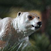 Для дома и интерьера ручной работы. Ярмарка Мастеров - ручная работа Северный медведь, елочная игрушка, фигурка, статуэтка. Handmade.