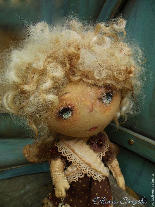 Коллекционные куклы ручной работы. Ярмарка Мастеров - ручная работа. Купить Белая сказка. Handmade. Коричневый, ангел, текстиль, кудри