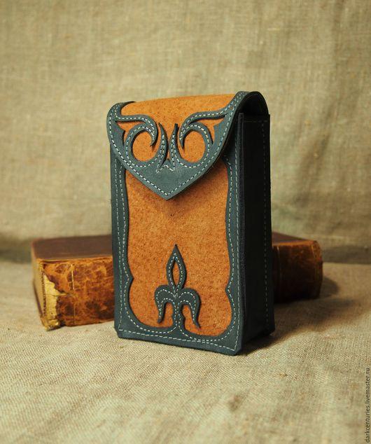 Гадания ручной работы. Ярмарка Мастеров - ручная работа. Купить Футляр для таро сине-оранжевый Anima. Handmade. Футляр для таро