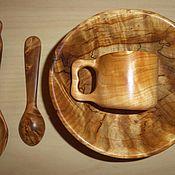 Посуда ручной работы. Ярмарка Мастеров - ручная работа Набор  посуды из капа. Handmade.