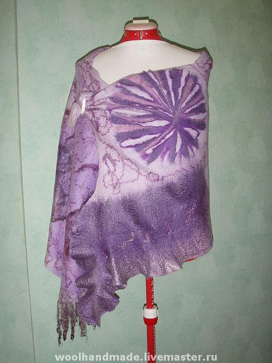 Shawls & Stoles handmade. Livemaster - handmade. Buy Tippet of wool Lilac fantasy.Felt, art felt, lilac