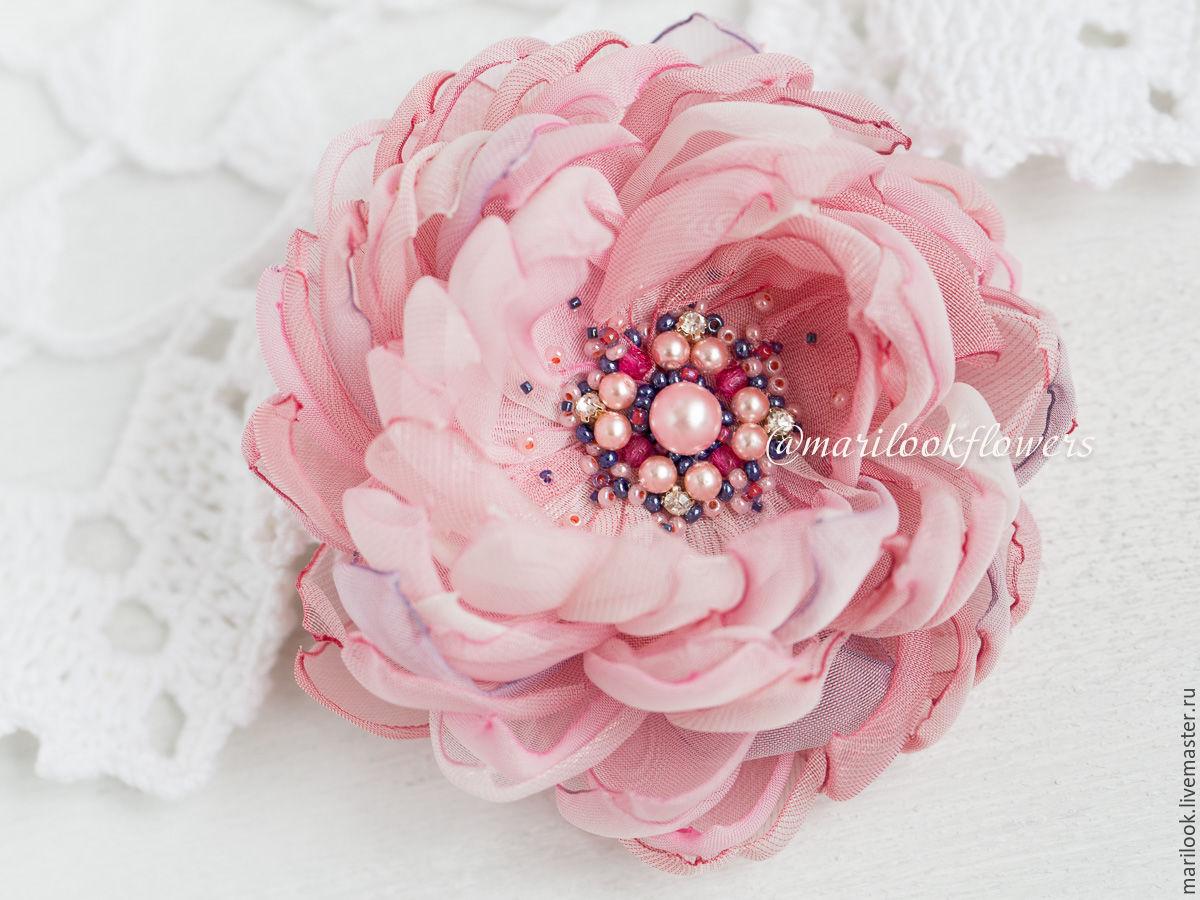 Как сделать цветок-брошь своими руками - Домашний 9