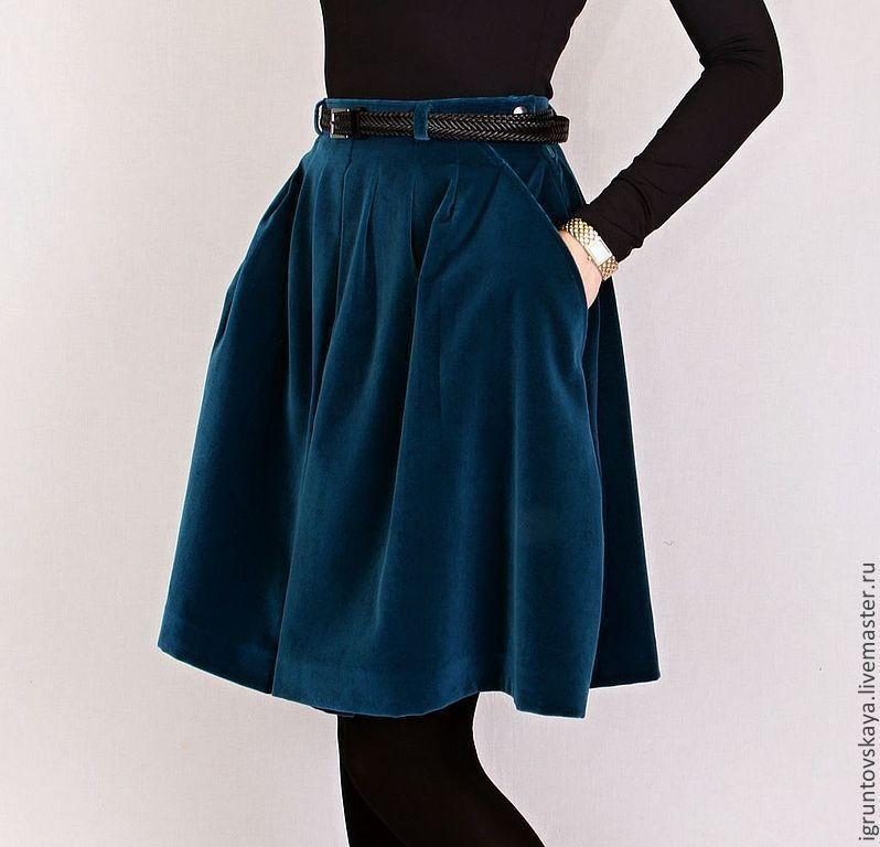 Бархатную юбку купить в москве