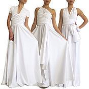 Одежда handmade. Livemaster - original item White dress, wedding dress, bridesmaid dress,ball gown. Handmade.