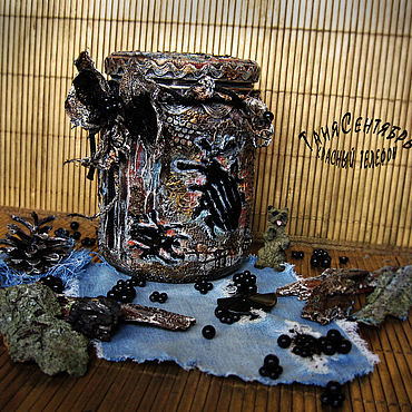 Посуда ручной работы. Ярмарка Мастеров - ручная работа Банки: Банка для чая кофе В СТИЛЕ ГРАНЖ. Handmade.