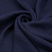 Материалы для творчества ручной работы. Ярмарка Мастеров - ручная работа Итальянская хлопковая костюмная ткань GUCCI темно-синяя. Handmade.