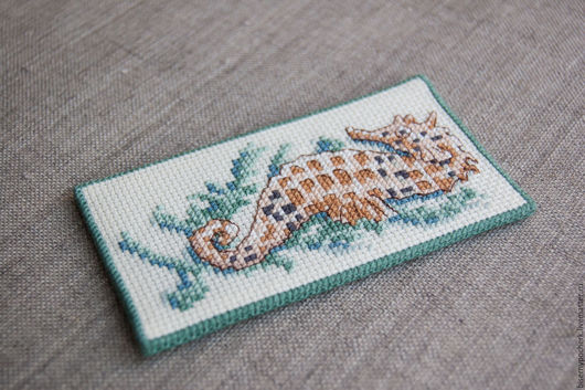 """Закладки для книг ручной работы. Ярмарка Мастеров - ручная работа. Купить Закладка """"Морской конёк"""". Handmade. Закладка, морская тема"""