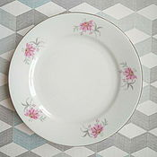 Винтаж handmade. Livemaster - original item Czech porcelain plate. Handmade.