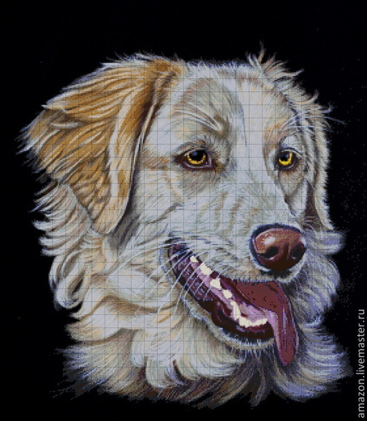 """Вышивка ручной работы. Ярмарка Мастеров - ручная работа. Купить Набор вышивания бисером """" Портрет собаки !"""". Handmade."""