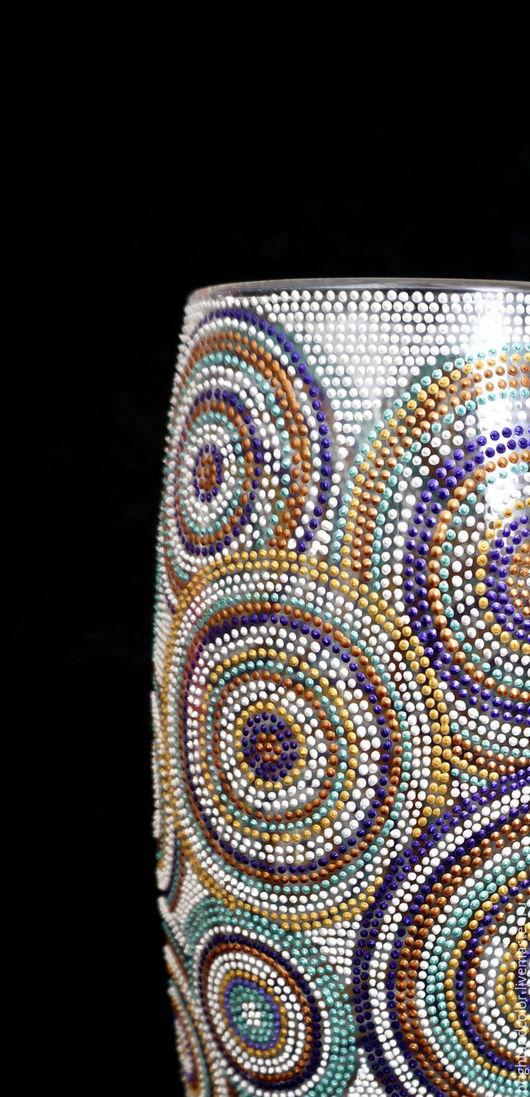 """Вазы ручной работы. Ярмарка Мастеров - ручная работа. Купить Ваза стеклянная """"Круги"""". Handmade. Комбинированный, ваза стеклянная"""