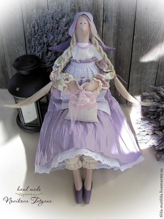 Тильда Ангел Фея Кукла Тильда Лавандовый ангел Лавандовая фея Прованс Кукла Прованс Тильда Прованс Хозяюшка Ангел-хранитель Тильда в подарок Подарок девушке