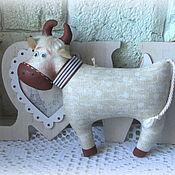 Куклы и игрушки handmade. Livemaster - original item Soft toys: The symbol of 2021 Is a bull Venya. Handmade.