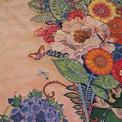 """Аксессуары ручной работы. Ярмарка Мастеров - ручная работа Шелковый платок """"Цветы"""". Handmade."""