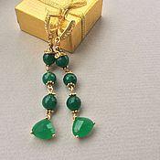Украшения handmade. Livemaster - original item SHAMROCK earrings of chrysoprase. Handmade.