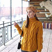 Одежда handmade. Livemaster - original item Jerseys: Women`s warm turtleneck sweater mustard color oversize style. Handmade.