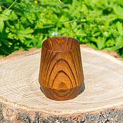 Посуда handmade. Livemaster - original item Wooden Glass Siberian Pine Tableware, wooden Tea #C3. Handmade.