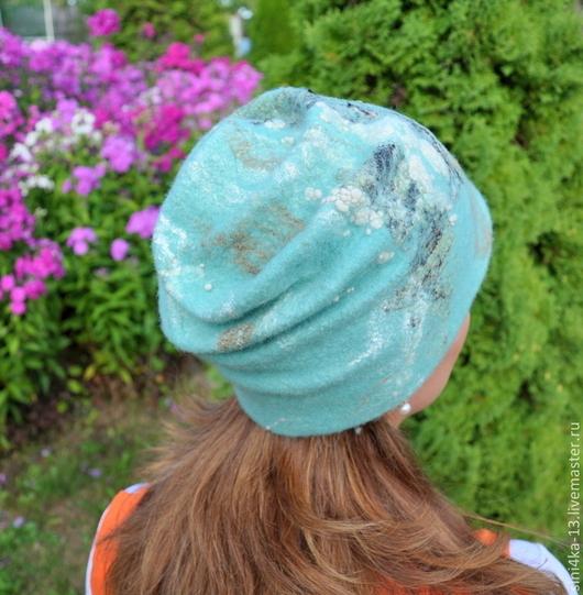 Шапки ручной работы. Ярмарка Мастеров - ручная работа. Купить шапка зима-осень. Handmade. Мятный, шапка валяная