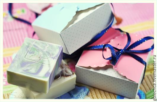 Подарочная упаковка ручной работы. Ярмарка Мастеров - ручная работа. Купить Коробочка для мыла «Кружева». Handmade. Розовый, коробочка