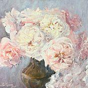 Картины и панно handmade. Livemaster - original item Oil painting Bouquet of lush roses. Handmade.