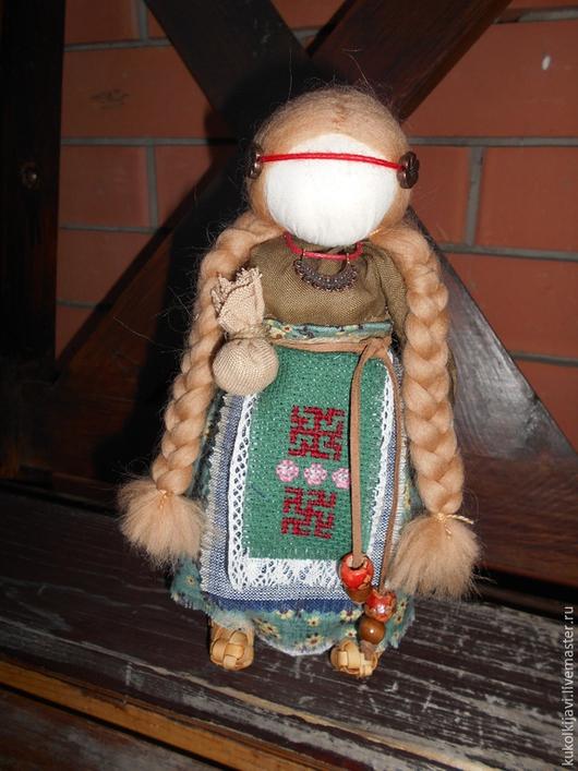 """Народные куклы ручной работы. Ярмарка Мастеров - ручная работа. Купить Кукла оберег здоровья.""""Внучка знахарки"""". Handmade. Зеленый"""