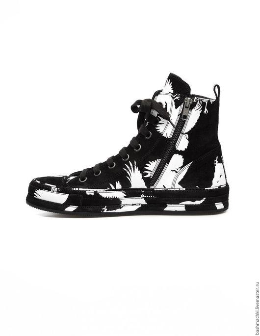 """Обувь ручной работы. Ярмарка Мастеров - ручная работа. Купить Кеды женские """"aircross""""  #80. Handmade. Чёрно-белый, ботинки"""