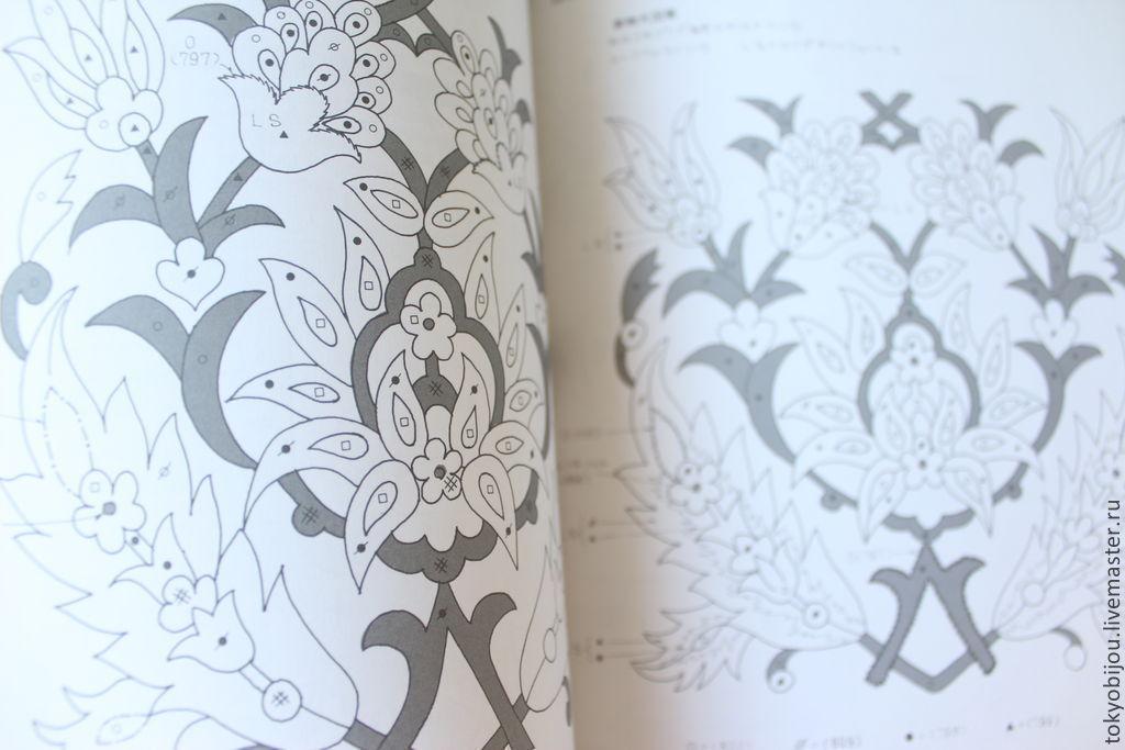 Вышивки японских цветов