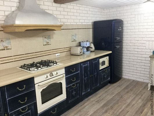 деревянная дубовая мебель для кухни из массива дуба классика