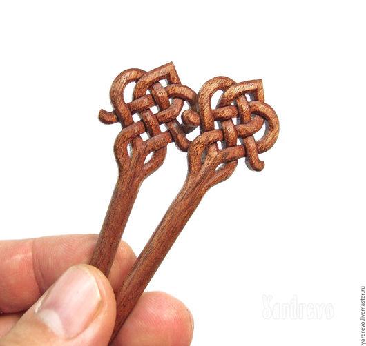 Заколки ручной работы. Ярмарка Мастеров - ручная работа. Купить Шпильки из дерева резные(Сапеле). Handmade. Коричневый, палочка, деревянные, handmade