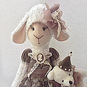 """Куклы и игрушки ручной работы. Ярмарка Мастеров - ручная работа По мотивам """"Винтажная овечка Авелина"""". Handmade."""