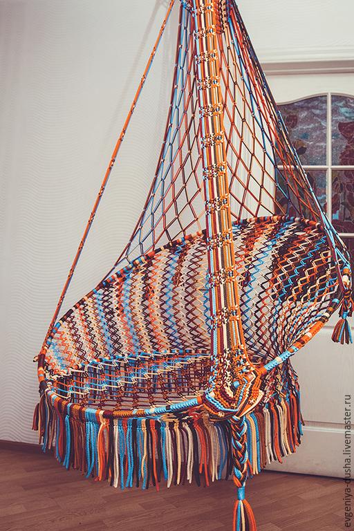 Мебель ручной работы. Ярмарка Мастеров - ручная работа. Купить Кресло Большое Этно 2. Handmade. Кресло этно, Макраме