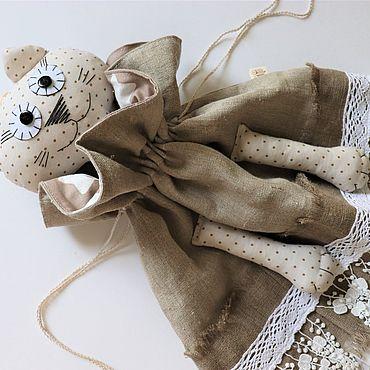 Для дома и интерьера ручной работы. Ярмарка Мастеров - ручная работа Винтажная пакетница-кошка. Handmade.