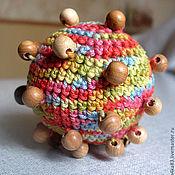 Куклы и игрушки ручной работы. Ярмарка Мастеров - ручная работа Тактильный мячик для девочки. Handmade.