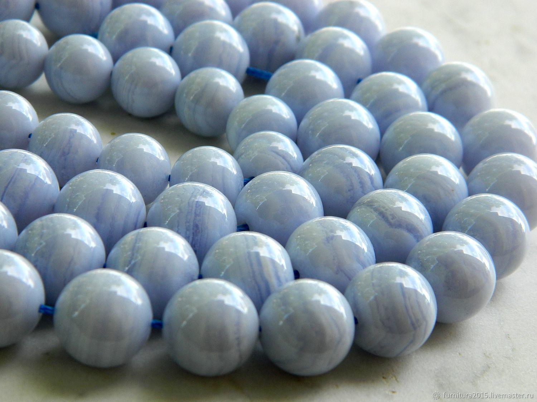 Сапфирин 12 мм голубой Кружевной Агат. (С5), Бусины, Саратов,  Фото №1