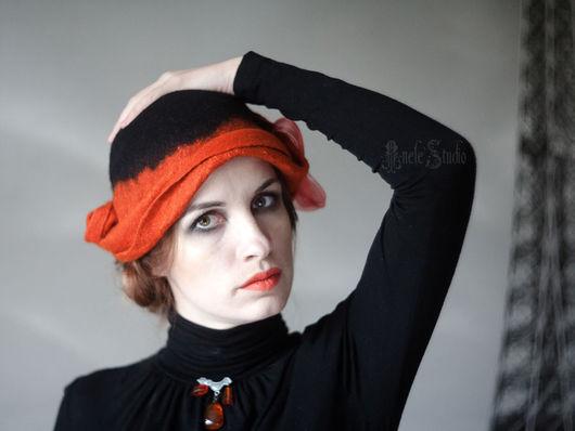Шляпы ручной работы. Ярмарка Мастеров - ручная работа. Купить Шляпа фантазийная 16010. Handmade. Декаданс, шляпка, зимняя мода