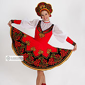 Русский стиль handmade. Livemaster - original item Dance folk costume