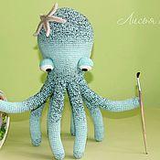 Куклы и игрушки ручной работы. Ярмарка Мастеров - ручная работа Осьминог. Вязаный осьминог Йоханес. Игрушка осьминог. Handmade.