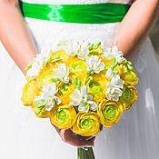 Свадебные букеты ручной работы. Ярмарка Мастеров - ручная работа Букет невесты из Японской полимерной глины. Handmade.