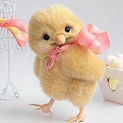 Куклы и игрушки ручной работы. Ярмарка Мастеров - ручная работа Цыпленок тедди Фрэри. Handmade.