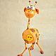 Игрушки животные, ручной работы. Жирафы. Радуга Гульнара Мухтарова (Rainbow-Dolls). Ярмарка Мастеров. Оригинальный подарок