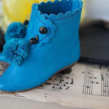 """Куклы и игрушки ручной работы. Ярмарка Мастеров - ручная работа Обувь для Антикварной куклы """"Musical note"""". Handmade."""